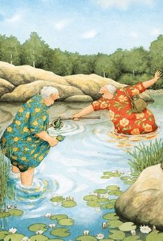 29 Ideas Illustration Art Funny Inge Look Art And Illustration, Illustrations, Old Lady Humor, Funny Art, Whimsical Art, Old Women, Getting Old, Online Art, Art Drawings
