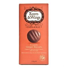 Chocolate and Ginger Biscuits 130g. Roots & Wings