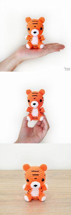 Crochet Pattern - Baby Tiger - Amigurumi