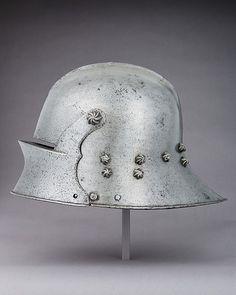 Sallet Date: 1475 Culture: German Medium: Steel Dimensions: H. 10 1/2 in. (26.7 cm); W. 9 1/4 in. (23.5 cm); D. 15 1/4 in. (38.7 cm); Wt. 7 lb. 2.1 oz. (3234.7 g)