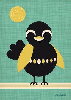Sun bathing Birdie      #bird #blackbird #sun ©Miss Honeybird