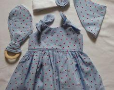 0-3 month cotton dress set