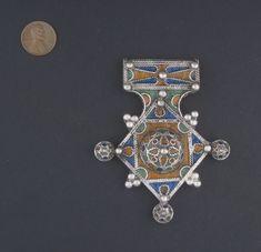 Vintage Berber Cross Pendant Rare Saharan Treasure Tribal