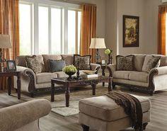 Laytonsville Pebble Sofa, Loveseat, Chair & Ottoman