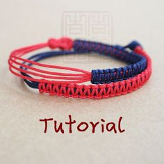 eBook(The Bridge to Dreams) - A Tutorial to Chinese knot bracelet/Friendship Bracelet/Wish Bracelet-Instant Download Pattern - FREE SHIPPING...