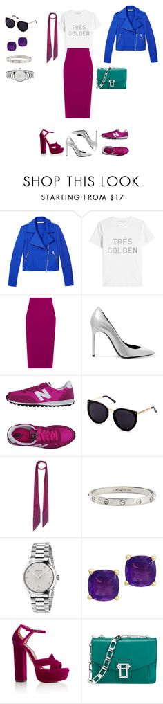 """""""Untitled #284"""" by mary-en ❤ liked on Polyvore featuring Harris Wharf London, Golden Goose, Roland Mouret, Yves Saint Laurent, New Balance, Rockins, Cartier, Gucci, Effy Jewelry and Aquazzura"""