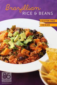 Brazillian-Rice-Beans  #gluten free  #vegan