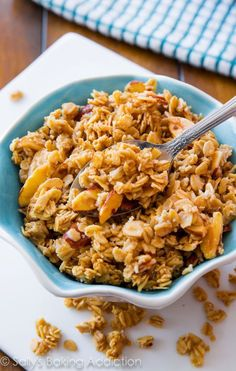 This vanilla almond granola is sweet, crunchy, and easy to make! Ditch the store-bought, this homemade granola is a winner!
