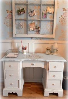 before and after decorating an upcycled home office nook, bedroom ideas, craft…