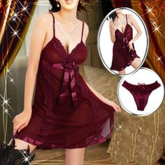 8a8930770 Here is the Site to make this purchase!! Dark Red Lingerie Baby doll Dress