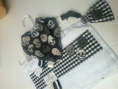 Kit bandana, paninho de boca e porta chupeta - Coisas Fofas Ateliê