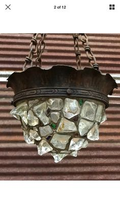 peter marsh style chunk glass lantern reproduction made by north