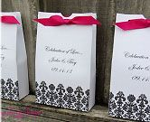 Personalized Damask Favor Bags