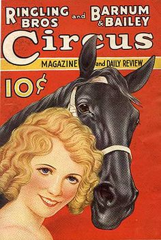 RINGLING'S 1934 PROGRAM WITH EQUESTRIENNE DOROTHY HERBERT FEATURED ON THE COVER