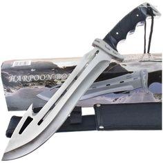 Frost Cutlery TR3137 Harpoon Bowie IV Knife Guthook   MooseCreekGear.com   Outdoor Gear — Worldwide Delivery!   Pocket Knives - Fixed Blade Knives - Folding Knives - Survival Gear - Tactical Gear