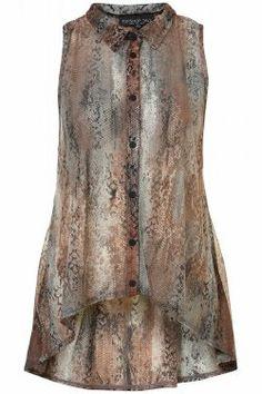 Snake Skin-Sleeveless-Tail-Shirt