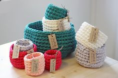 Lots of cute Crochet Baskets (and other stuff) here!