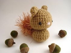 Copper Squirrel by MoonsCreations, via Etsy. Amigurumi, toys, crochet