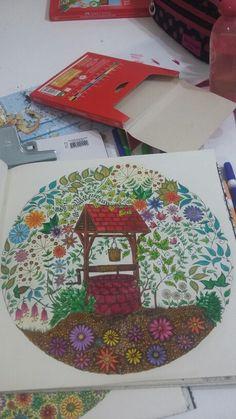 Desenho da Carol.  Jardim  Secreto
