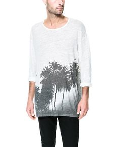 3/4 SLEEVE T - SHIRT - T - shirts - Man - New collection | ZARA United States
