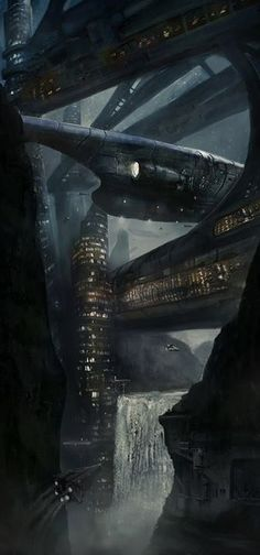 """Waterfall City"" by LAMBLE Mathieu.beautifulwarbirds@gmail.comTwitter: @thomasguettlerBeautiful WarbirdsFull AfterburnerThe Test PilotsP-38 LightningNasa HistoryScience Fiction WorldFantasy Literature & Art"