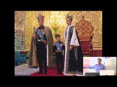 Mohammed Reza Shah Pahlavi Shah of Iran with his third wife Farah Diba and their son Reza in ceremonial dress in front of throne. Farah Diba, Kings & Queens, Pahlavi Dynasty, The Shah Of Iran, Leila, Persian Culture, Kaiser, Royal Fashion, Vanity Fair