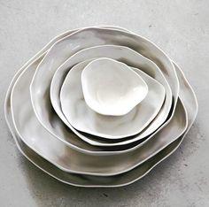 Ceramic bowls for Sculptured Organic inspiration from Amai Saigon