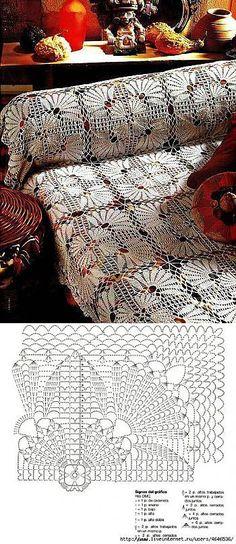 This Pin was discovered by Mar Manta Crochet, Crochet Art, Crochet Home, Thread Crochet, Crochet Motif, Crochet Doilies, Crochet Stitches, Plaid Crochet, Crochet Diagram