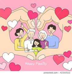 Happy Family, Family Guy, Christmas Drawing, Couple Cartoon, Design Trends, Paper Art, Branding, Concept, Texture