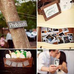 Love this Polaroid photobooth idea on @theprettyblog.  Photo: Jodi Miller