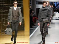 Tendencias hombre otoño/invierno 13/14 color gris: Ermenegildo Zegna y Fendi.