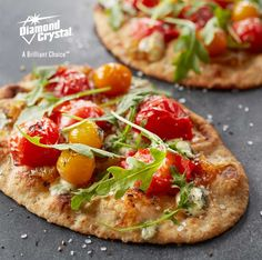 Flatbreads can be a great holiday appetizer, especially when they're as delicious as this! Try this simple and delicious flatbread recipe with Diamond Crystal® Sea Salt. #DiamondCrystalSalt