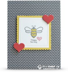 CARD: Happy Bee-day Pun Intended Birthday Card and winner | Stampin Up Demonstrator - Tami White - Stamp With Tami Crafting and Card-Making Stampin Up blog