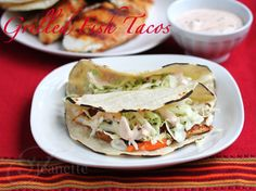 You must try these Grilled Fish Tacos with Chipotle Sauce #tacos #recipe http://JeanettesHealthyLiving.com
