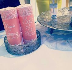 Custom Henna Candles made by Cousin #MatchingtheTheme #Customwedding