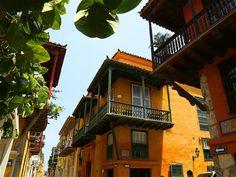 Estas son algunas de las fachadas del centro histórico de Cartagena.