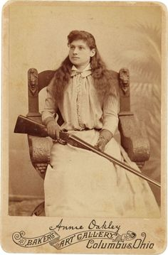 Annie Oakley (August 13, 1860 – November 3, 1926), American sharpshooter and exhibition shooter.