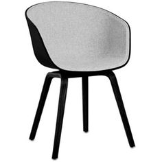 HAY About A Chair AAC22 - Black Shell with Front Upholstery