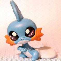 Mudkip Pokemon inspired Littlest Pet Shop by PiasLittleCustoms