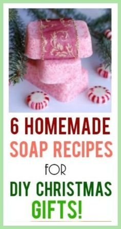 6 Homemade Soap Recipes for DIY Christmas Gifts - Makes 12 Bars in One Hour! 6 Homemade Soap Recipes for DIY Christmas Gifts - Makes 12 Bars in One Hour! Homemade Christmas Gifts, Homemade Gifts, Diy Gifts, Christmas Diy, Holiday Gifts, Christmas Budget, Homemade Products, Winter Holiday, Unique Gifts For Women