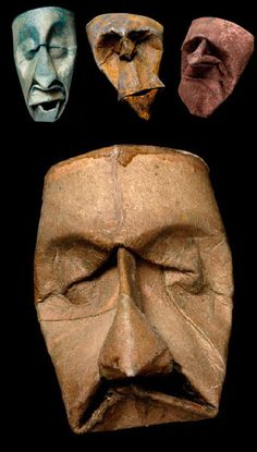 Junior Fritz Jacquet is a French paper artist. He created the weirdly amazing series of toilet paper rolls attached in weird masks. The art pieces are inspired Cardboard Mask, Cardboard Sculpture, Cardboard Tubes, Sculpture Art, Sculptures, Toilet Paper Roll Art, Paper Roll Crafts, Origami, Old Man Face