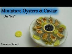 ▶ Miniature Oysters & Caviar - Polymer clay tutorial - YouTube