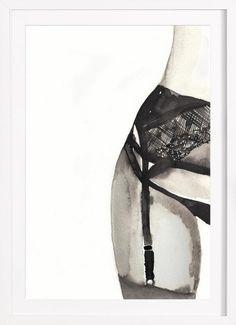 Halfway to Eight Points als Poster door Victoria Verbaan Sexy Drawings, Art Drawings, Buy Art Online, Up Girl, Art Auction, Medium Art, Erotic Art, American Art, Mixed Media Art