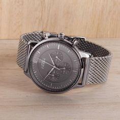 The Kinsale silver chronograph.   #grandfrankwatches   www.Grandfrank.com