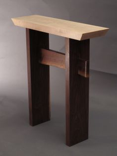 custom furniture narrow side table small entry table narrow hall table accent tables for small spaces solid wood furniture handmade in the usa