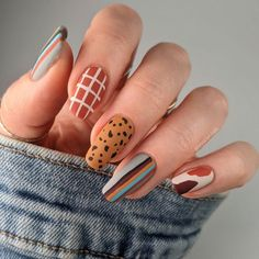 Just A Little, Little Mix, Cute Nails For Fall, Fall Nail Designs, Mix N Match, Nail Inspo, Have A Great Day, Essie, Manicure