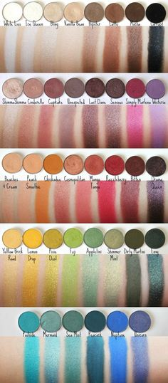 Makeup Geek eyeshadow swatches!