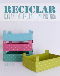 RECICLAR CAJITAS DE FRESAS CON PINTURA