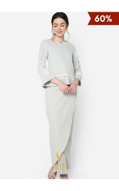 Modest Fashion Hijab, Muslim Fashion, Tulip Skirt, Kebaya, Trends 2018, Normcore, High Neck Dress, Clothes For Women, Wedding Dresses
