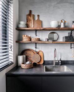 Home Decor Kitchen, Rustic Kitchen, Kitchen Interior, Home Kitchens, Living Styles, Interior Styling, Interior Design, Küchen Design, Beautiful Kitchens